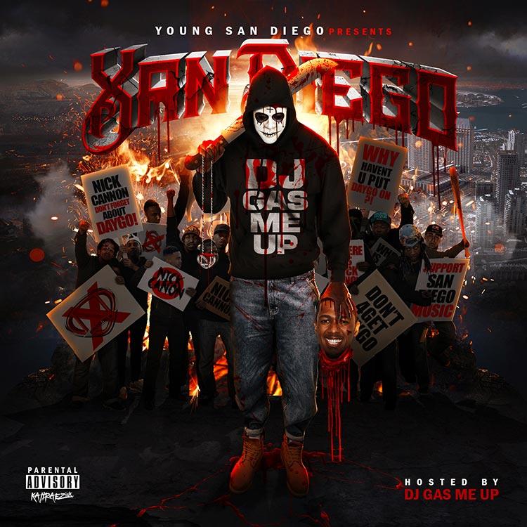 kahraezink-dj-gas-me-up-xan-diego-mixtape-cover-design