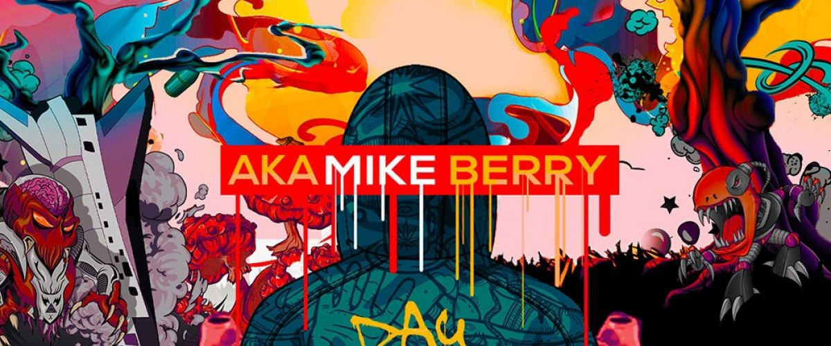 kahraezink_aka_mike_berry_day_dreaming_at_night_cartoon_mixtape_cover_design
