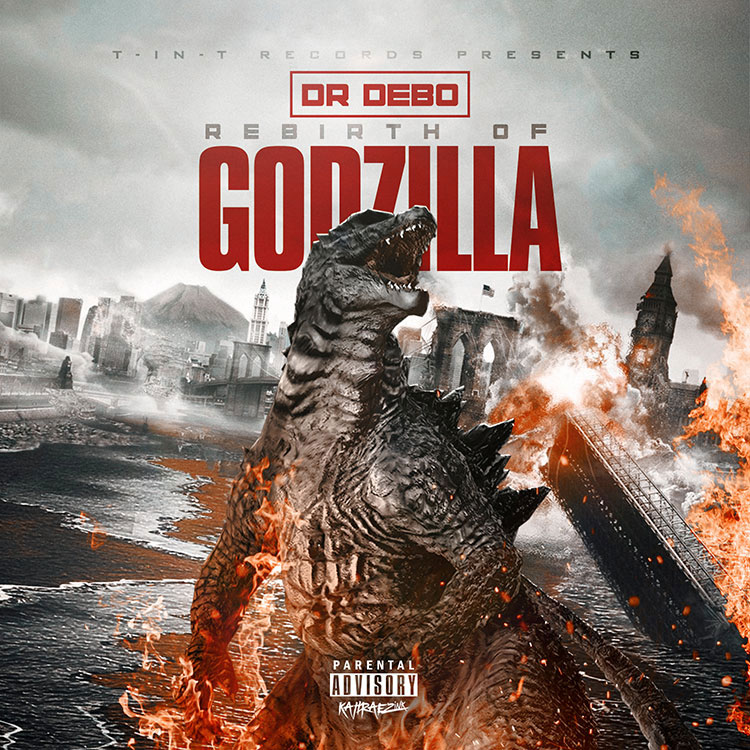 kahraezink_rebirth_of_godzilla_mixtape_cover_design