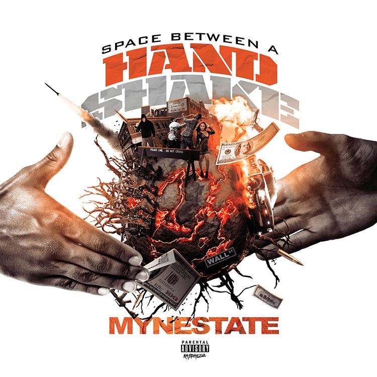 kahraezink_space_between_a_handshake_mixtape_cover_design
