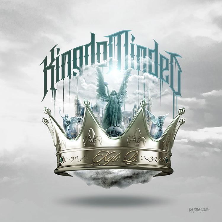 kahraezink_kyleb_kingom_minded_mixtape_cover_design