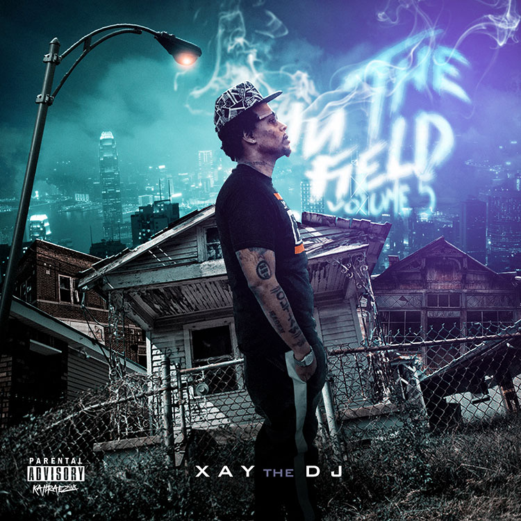 kahraezink_xay_the_dj_in_the_field_volume_5_mixtape_cover_design