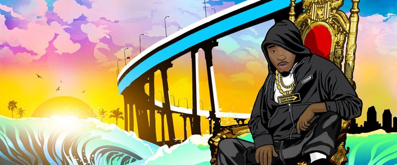 kahraezink_don_elway_waygonomics_cartoon_mixtape_cover_design