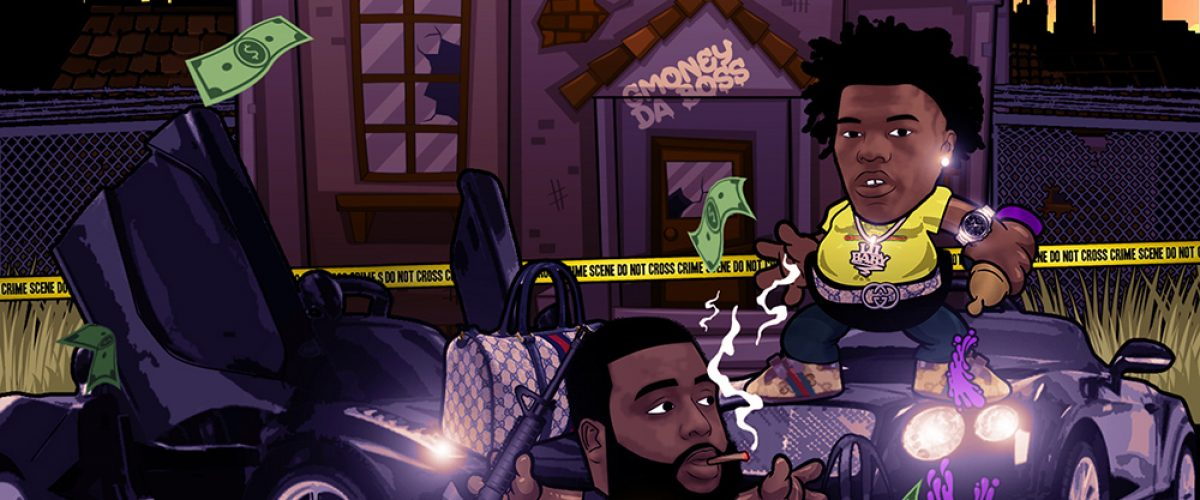gmoney_da_boss_lil_baby_zip_cartoon_single_cover_designed_by_kahraezink