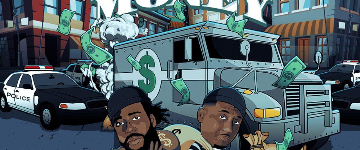 kahraezink_the_verse_feat_maino_fast_money_hip_hop_rap_trap_cartoon_single_cover_designed_by_kahraezink